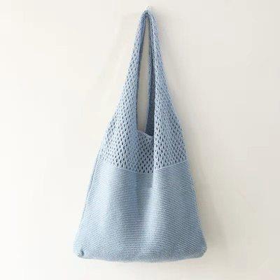 Knitting Hollow Out Shoulder Beach Bag Casual Shopping Bag