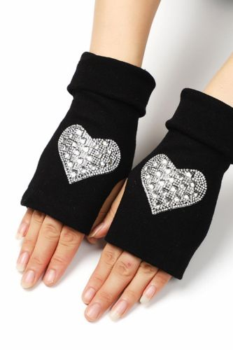 Men and women in autumn and winter double thick warm half gloves, writing game gloves