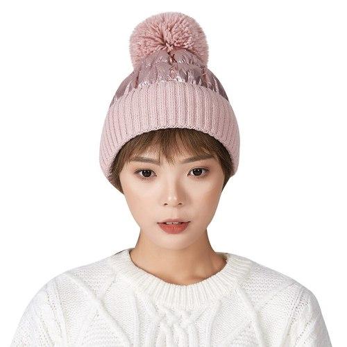 Fashion Women's Winter Collar Plus Wild Thick Knit Warm Hat Hip-hop Cap Woolen Caps Fashion Women And Men Hat Hats Caps Women