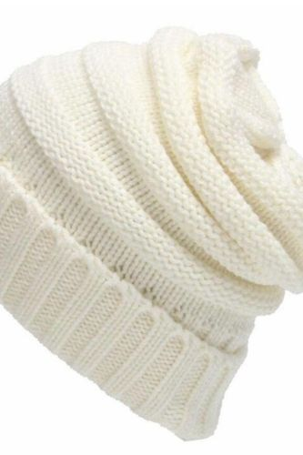 Men's and Women's Hats Autumn and Winter Outdoor Korean Style Flanging Leisure All-match Knitted Hat Woolen Hat