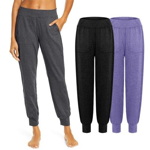 2021 New Women Casual Sports Pants Summer Fashion Female Sweatpants Solid Elastic Waist Long Trousers Tracksuit Plus Size