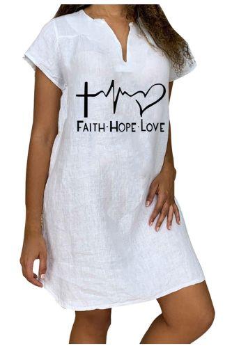 Shirt Dress Cotton Linen Woman 2021 Sexy Woman Mini Dress Women'S Fashion Loose Print Short Sleeve V-Neck Short Dress Vestidos