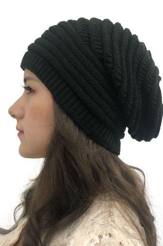 Unisex Knitted Beanie Hat 2021 Fashion Women Mens Crochet Slouchy Knit Wool Baggy Hat Winter Warm Outdoor Hip Hop Ski Cap