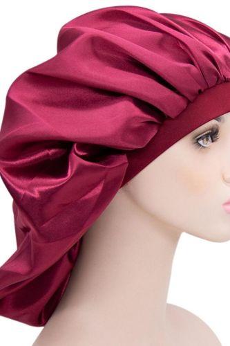 Women Night Sleep Hat Adjust Satin Bonnet Hair Styling Cap Long Hair Care 29 Styles Silk Head Wrap Shower Cap Hair Styling Tools