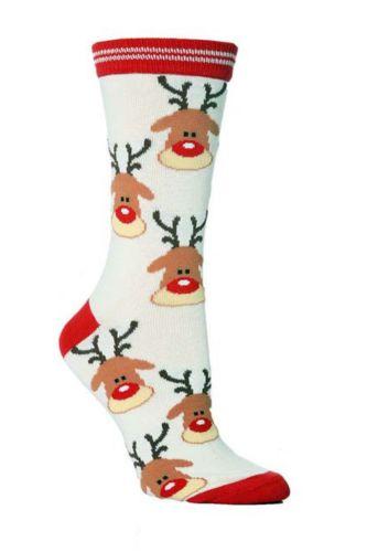 A Pair Of Men's And Women's Christmas Socks For UK Size 4-8 2021 Fashion Christmas Sock Santa Snowflake Bells Elk Stockings