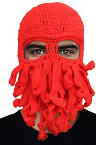 Hot Selling Winter Warm Hats For Women Men Halloween Party Octopus Hats and Caps Adult Unisex Woolen Knitted Beanie Fedora Hat