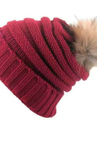 Winter Knitted Hat Thick Soft Warm Baggy Crochet Caps Men Women Wool Knit Ski Beanie Skull Slouchy Pompom Hat