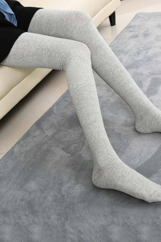 1 Pair of Autumn and Winter Stockings High 80cm Cotton Stockings Thigh Female Stockings Creative Personality New High Stockings