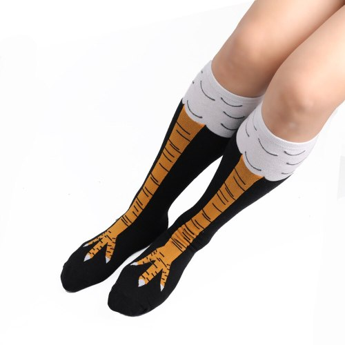 Women Chicken Foot Claw Socks over Knee Socks Stockings 3D Chicken Sock Performance Stockings Halloween Christmas Cartoon Gift