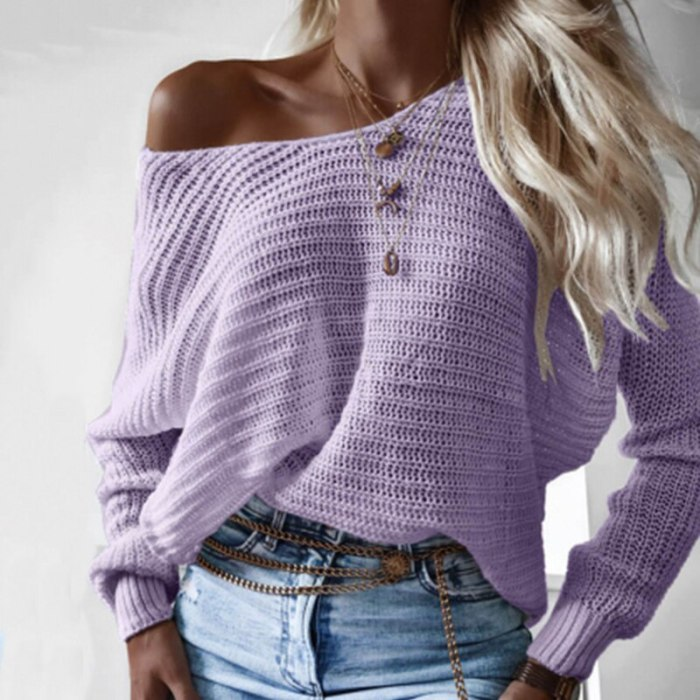 Women's Casual O Neck Bottom Jumper Autumn Winter Solid Color Loose Knit Sweater for Women 2020 Long-Sleeve Knitwear Pullovers