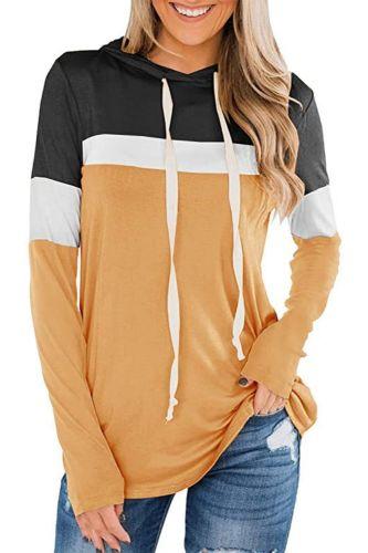 Sweatshirt Women's Fashion Loose Casual Pullover Long Sleeve Patchwork Hoodie Sweatshirt Sudaderas Con Capucha Moletom Feminino