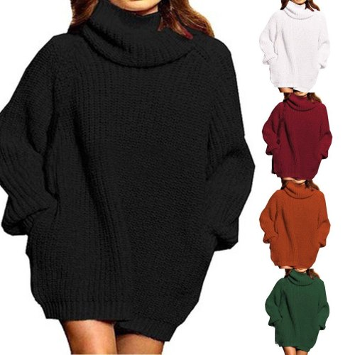 Woman Sweaters Pullover Women Long-Sleeved Solid Color Turtleneck Pullover Winter Sweater Winter Clothes Women pull femme