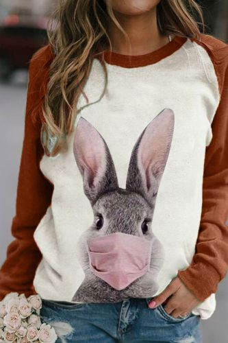 Woman Sweatshirt  Autumn And Winter Clothes Pullover Casual Long Sleeve Top Animal Printing Patchworkp Cartoon Loose Streetwear