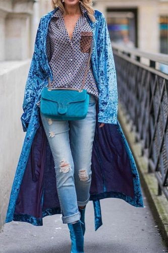 Women Elegant Retro Velvet Cape Jacket Fashion High Street Long Cardigan Outerwear Autumn Winter Long Sleeve Casual Trench Coats