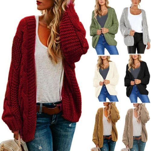Women Knitted Coat Style Casual Long Sweater Cardigan Soft Comfortable Solid Loose Long Sleeve Female Knitted Coat 2021