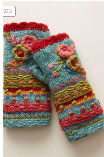 Womens Winter Warm Gloves Casual Flower Knitting Fingerless Gloves Handwarmers Glove Mittens Without Fingers Cashmere Mittens