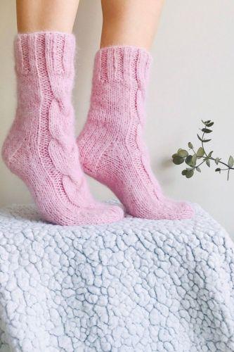 Woman Socks Knitted Girls Casual Socks Pink Gray White Thickless knee socks Stocking Women Winter Warm Knitting Socks Autumn