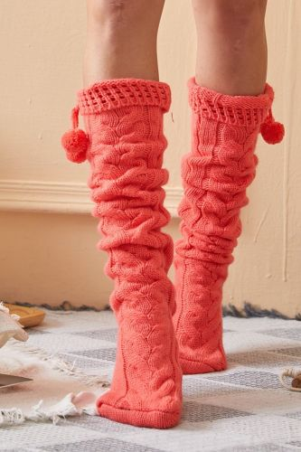 Sexy Black Thigh High Over The Knee Socks 2020 Fashion Women's Long Knitted Stockings For Girls Ladies Women Winter Knit Socks