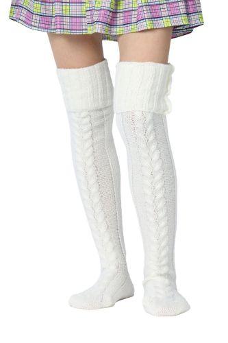 Women's wool socks autumn and winter outdoor leisure warm fluffy in Kean socks legs warm color solid color