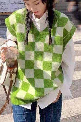 Winter Clothes Woman Loose Sueter Vest Knit Tops 2021 Colete Feminino Pull Femme Sweater Women Jersey Chaleco Mujer