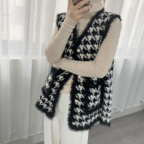 2021 Quality European Station Small Fragrant Temperament Tassel Cardigan Knit Vest Fashion Waistcoat Outer Jacket Women
