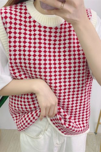 Autumn Winter New Women Sweater Vest Elegant Sleeveless Casual Street Loose Ribbed Knitted Outwear Tops