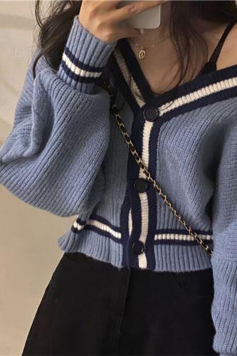 Button Single Breasted Woolen Women Cardigans Sweater Casual Female Warm Elegant Autumn Winter Japanese style knitwear