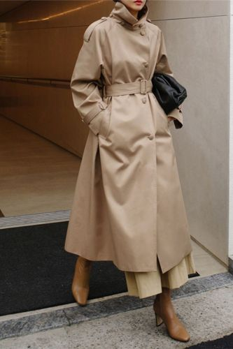 Autumn New Fashion Sashes Trench For Women 2021 Korean Solid Color Turn-down Collar Loose Pockets Female Coats