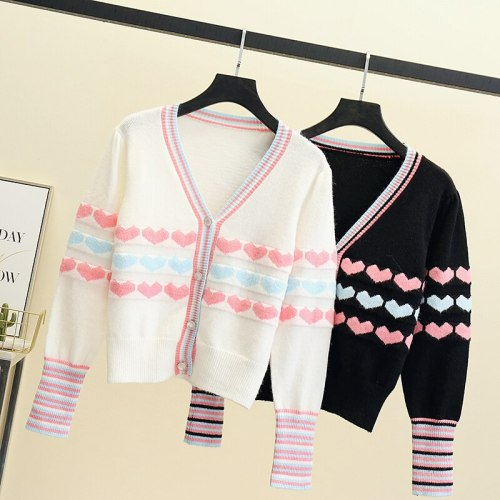 Knitted Cardigan sweater New Spring Women Contrast Color V Neck Long Sleeve sweater Fashion Cardigan for Female Jumper Outwear