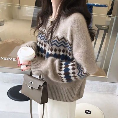 Fall 2021 Women Clothing Oversize Womens Sweaters Autumn Vintage Loose Winter Sweater Knitted Women Cardigan Knit Button Maxi
