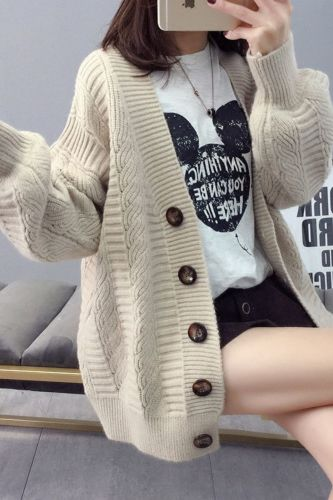 Women's Sweater Cardigan jacket Female Loose Korean Fashion Student Spring And Autumn Sweater Trend Woman 2021 Women cardigans