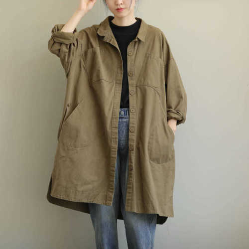 Autumn Pregranancy Women Coats And Jackets Maternity Outwear Casual Oversize Long Coat Clothes For Pregnant Women Plus Size 2021