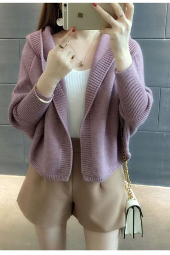 Cardigans Women Hooded Solid Simple Loose 2XL Harajuku Elegant Korean Style Daily Casual Fashion All-match Females Sweater Sweet
