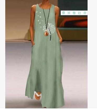 Floral  Sleeveless Chic Elegant Dresses