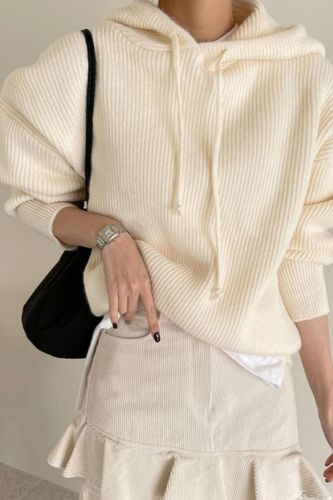 2021 Women Sweater Pullover Female Knitting Overszie Long Sleeve Loose hoodies Knitted Thick Outerwear Womens Winter Sweaters