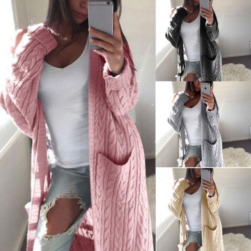 Women Long Cardigan Sweater Top Long Sleeve loose knitting cardigan sweater Women Knitted Female Cardigan pull femme