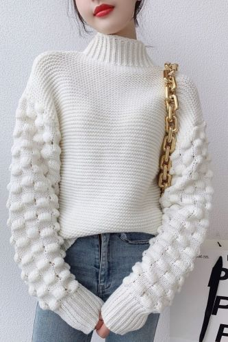 2022 New Winter Jumper Women High Collar Sweater Loose Warm Knitted Pullovers Ladies Turtleneck Knitwear Autumn Tops Pull
