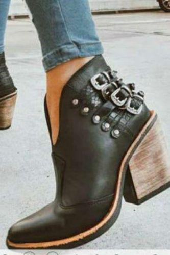 Women Ankle Boots High Heels Pumps Shoes Woman Autumn Warm Plus Size Vintage Shoe Chaussures Femme Zapatos Mujer Sapato D2307