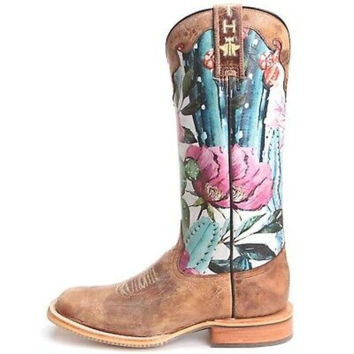Women Knee High Boots Low Heels Autumn Plus Size Shoes Vintage Pu Leather Embroidery Gladiator Booties Woman Mujer Zapatos D1890