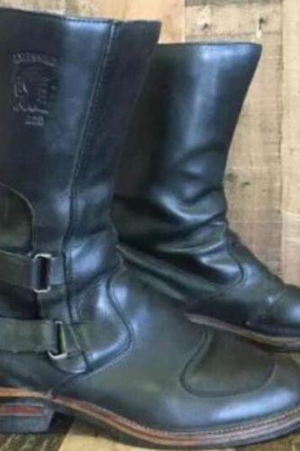 Men male man plus size mid-calf boots autumn warm matin shoe mens vintage PU leather zapatos de hombres personlizar zapatosM1093