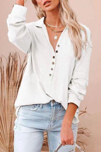 Fashion Women Sexy Tops 2021 Autumn Vintage Ladies LongShirts Button Lapel CardiganVestidos Sleeve Shirts Plus Size Tops 5XL