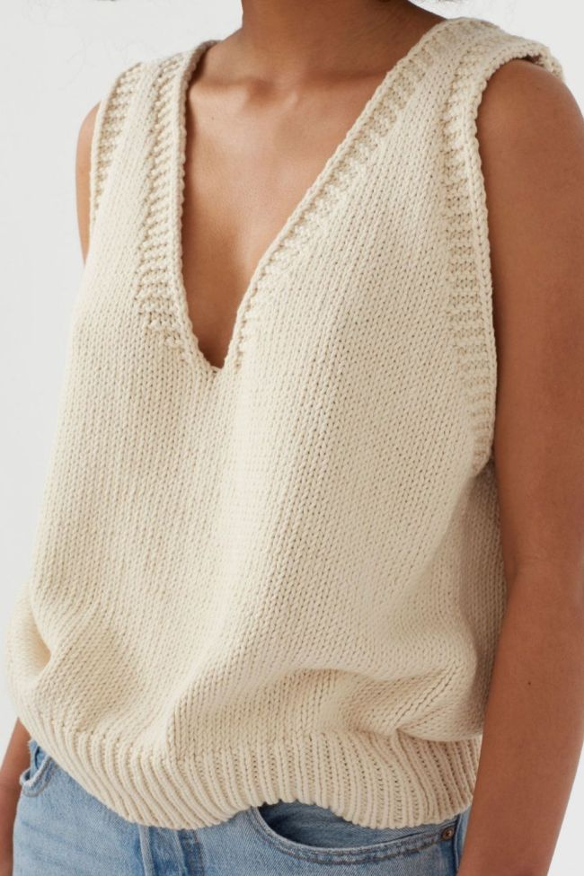 2021 Autumn Knitted Sleeveless Women's Vest V-neck Solid White Female Vests New Fashion Casual Ladies Sweater Top