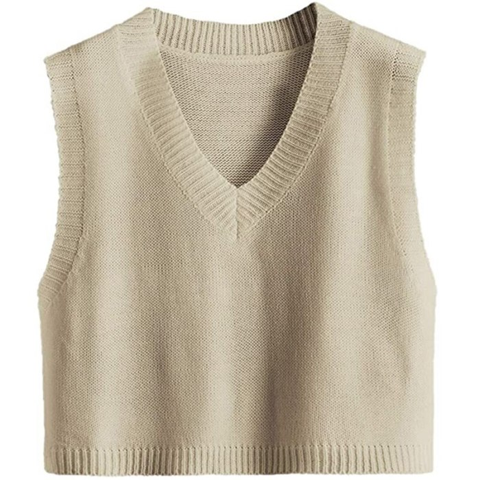 Casual Solid Loose Sweater Autumn Women's Vest Knitted V Neck Short Sleeveless Fashion Joker  Winter Outerwear M6162