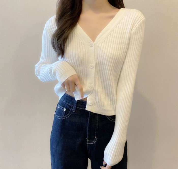 Casual Zipper Short High Collar Twist Knit Rib Pullover Sweater