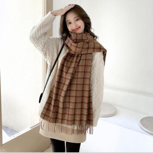 Autumn and winter new fashion joker cashmere plaid scarf for men and women long British plaid warm decorative shawl scarf