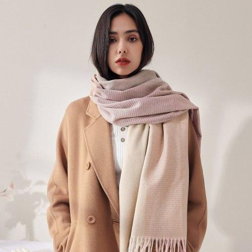2021 Elegant Thick Blanket Women Shawl And Wraps Winter Print Cashmere Scarf Hijab Ladies Pashmina Neckerchief