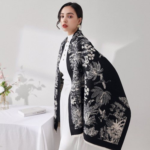 Designer Cashmere Scarf Women Winter Luxury Shawl And Wraps Hijab Thick Blanket Ladies Long Pashmina Neckerchief Bufanda Echarpe