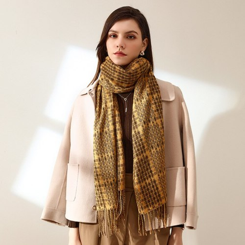 Autumn and Winter New Scarf Female British Bagh Bristled Cashmere Scarf Shawl Dual-use Thick Couple Scarf 65*185cm