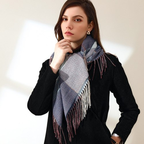 New Plaid woman winter scarf  female square shawls cashmere winter wraps Checked winter hijab scarf Gift wholesale