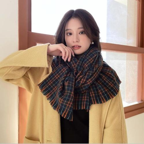 literary cashmere wool shawl, autumn and winter classic warm cashmere scarf